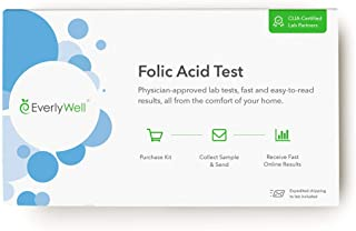 EverlyWell - Folic Acid Test - Test Your Levels of B9, Which Help Create Your DNA + Carry Oxygen Through Your Body! (Not A...