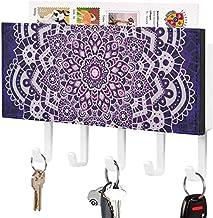 Porte-clés de courrier mural-organisateur de clés de courrier, support de crochet de chambre à coucher de couloir d'entrée...