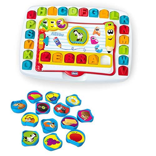Chicco Banco Scuola Bambini Leggi e Impara Edu4You, Gioco Educativo Elettronico e Parlante per Imparare le Lettere dell'Alfabeto, Ispirato al Metodo Montessori - Giochi Bambini 3-6 Anni