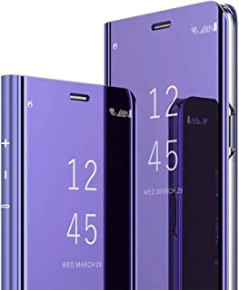 Huawei Honor 8X Case, COTDINFORCA Mirror Design Clear View Flip Bookstyle Luxury Protecter Shell with Kickstand Case Cover for Huawei Honor 8X.
