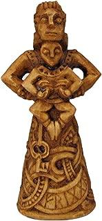 Dryad Design Norse Goddess of The Hearth Frigga Figurine - Wood Finish