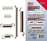 BGS Technic 8047- Muelles de compresión y extensión con caja plástica de almacenaje, 200 piezas