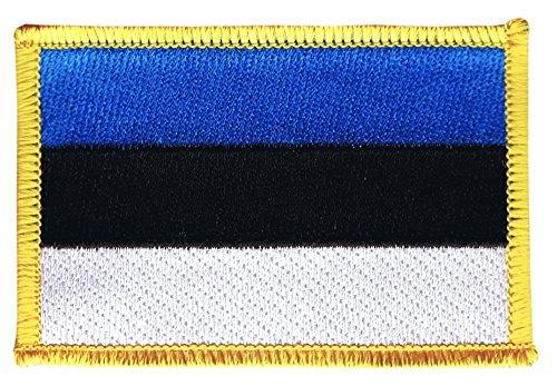 Flaggenfritze Flaggen Aufnäher Estland Fahne Patch + gratis Aufkleber