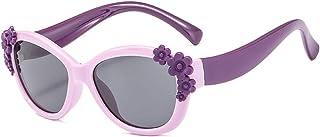 YU-HELLO - YU-HELLO _Gafas de sol para niños y niñas de silicona con flores polarizadas