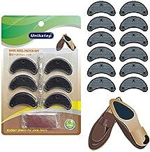 Unikstep 6 Pairs Shoe Heel Plate Tap, Shoe Heel Side Worn Repair Rubber Patch, Replacement Kit