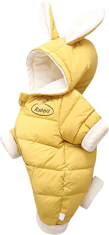 Very popular! KONF Toddler El Paso Mall Thicken Warm Coat Tops Ear Rabbit Boys Hooded Girls