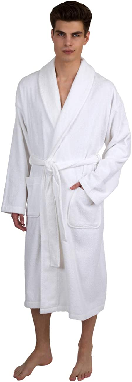 TowelSelections Men's Robe, Turkish Cotton Terry Shawl Bathrobe at  Men's Clothing store