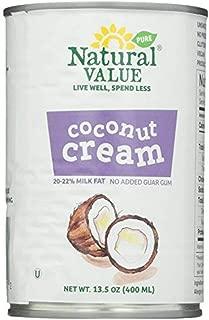 Natural Value Coconut Cream 13.5 Oz (Pack of 6)