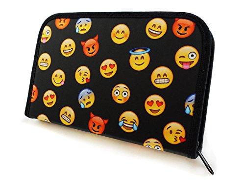 Plumier Estuche Caja de lápices para la escuela para niños y niñas Emoji Black [062]