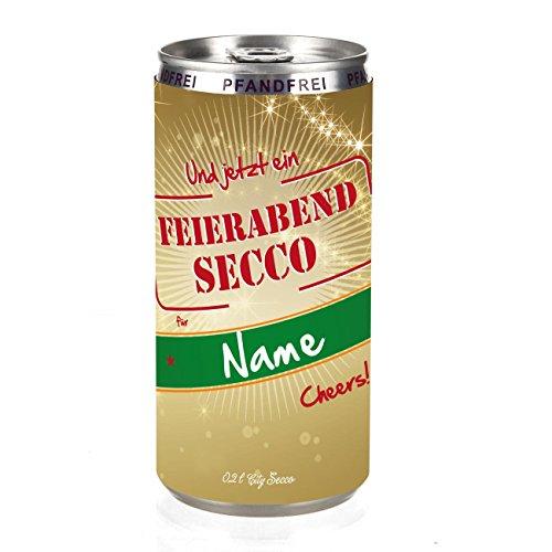 Herz & Heim® City Secco Feierabend-Secco in der Dose mit Wunschnamen (weiß trocken) 200 ml