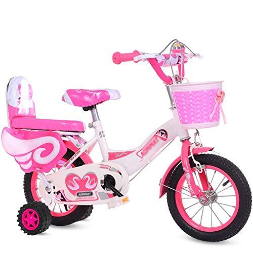 HGJINFANF Bicicleta para niños, Bicicleta, niña, Rosa, Bicicleta, Adecuada para niños, Interior, pequeña, Bicicleta, al Aire Libre, Bicicleta, Bicicletas, Bicicletas, 3~15 años de Edad
