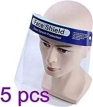 m/áscara facial protege los ojos y la cara 5 pcs mascarilla facial reutilizable transparente transparente de cara completa evita la salpicadura de saliva ORSEN Protector facial de seguridad