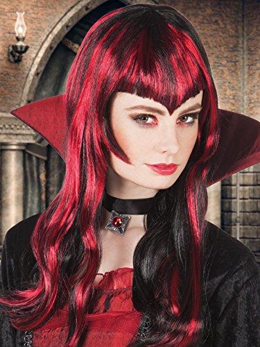 Boland- Parrucca Vampirella per Adulti, Rosso/Nero, Taglia Unica, 86077
