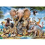 GuDoQi Puzzle 1000 Piezas Animales Salvajes Puzzle para Adultos Selva Puzzle Juego Familiar Decoración del Hogar Regalo de Navidad