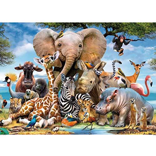 GuDoQi Puzzle 1000 Piezas Adultos Rompecabezas Animales Salvajes para Infantiles Adolescentes