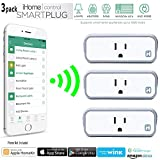 iHome Control Smart Plug Wi-Fi Enabled Control Your Electronics Device with the Home Automation App for Smartphones and Tablets (Pack of 3)