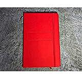 Cuir, bloc-notes, devoirs, agenda, cahier, étudiant, col blanc, bureau, réunion, livre de poche@Rouge