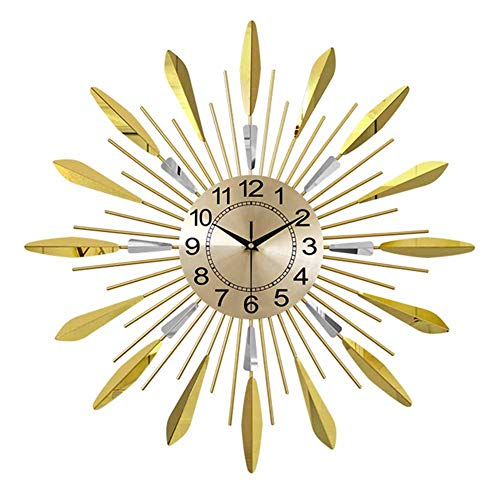 A-GHM Clock Wall Clock Modern Contemporary Big Creative Personalized Non Ticking Battery Operated Nordic Living Room Bedroom Office Art Decorative Clocks 3D
