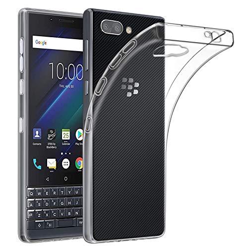 32nd Funda Slim Gel de Silicona Transparente para Blackberry Key2 LE Carcasa Ligera Ultra Fina - Transparente