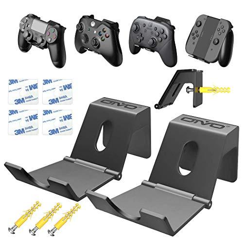 OIVO Wandhalterung für PS5 Xbox Series PS4 Nintendo Controller, Universal Controller Wandhalter Ständerhalter für Kopfhörer, Gamepad - 2 Stück