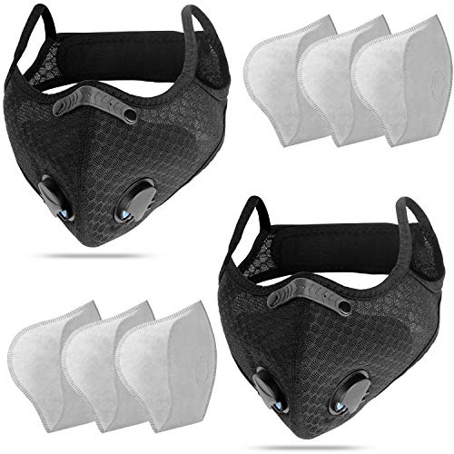 Sports Face Mask with Replaceable Activated Carbon Filters NESENNI Pollution Dust Mask Respirator...