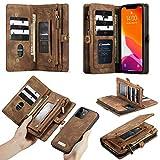 Weichunya Para la nueva caja del teléfono móvil anti-Drop Drop, la funda de cuero de la billetera con cremallera de dos en uno multifunción, el modelo de negocio de moda con múltiples ranuras de tarje