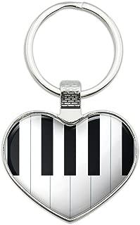 piano keyboard keychain