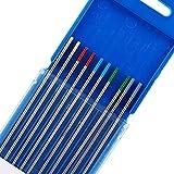 TEN-HIGH tig Electrodos de tungsteno Electrodos de soldadura, Embalaje mixto 2 cerio 2% (g...