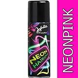 NET TOYS Spray Fluo pour Les Cheveux années 80 Rose néon Spray néon pour Les Cheveux Couleur pour Cheveux Disco...