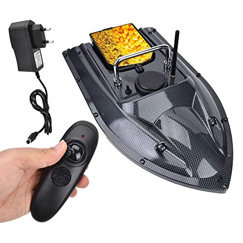 FEBT Fischerköderboot, Smart RC Boot, 500M Fernbedienung Wireless Fishing Lure Köderboot Fischfinder mit LED Nachtlicht, 1,5 kg Beladung, Fernbedienung Köderboot Angeln(EU)