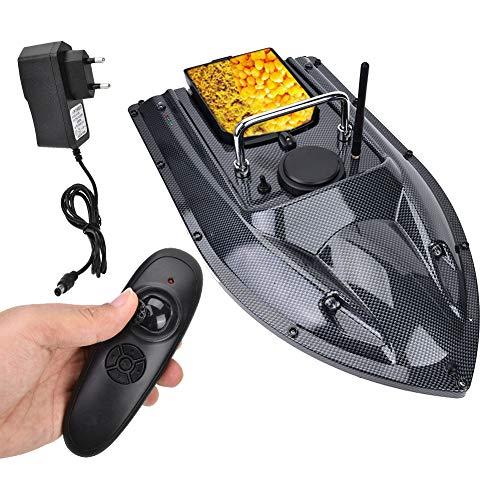 FEBT Barco de Cebo de Pesca, Barco de Control Remoto Inteligente, 500 m, Control Remoto inalámbrico, señuelo de Pesca, buscador de Peces con luz de Noche LED, Carga de 1,5 kg, Control Remoto(EU)