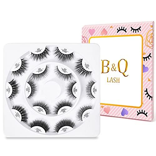 8 Paar B&Q Falsche Wimpern 3D Natürliche Schwarzige Wimpern Wiederverwendbare Lange Dicke Wimpern zur Verlängerung Dramatische Wimpern Für Make-up Künstliche Wimpern