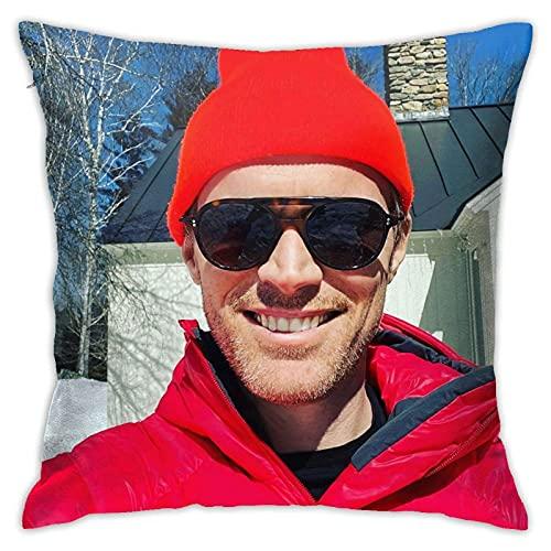 Lanzar Pillow Covers Paul Bettany Fundas de Almohada Funda de Almohada Cuadrada Funda de cojín de Almohada para sofá Decoración de sofá Decoraciones para el hogar 18 'X 18' InchMade in USA