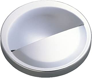 Belca 排水口 ふた 流し用ステンレス排水プレート 半円タイプ 直径14.5cm用 直径14.3×高さ2.8cm ステンレス 日本製 SP-207T