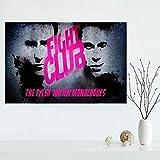 MhY Benutzerdefinierte Leinwand Fight Club Poster Kunst