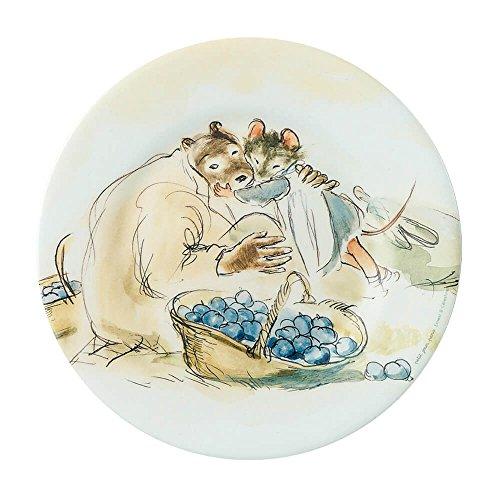 Petit Jour Paris Mimmi and Brumm im Garten Assiette en mélamine 20 cm – Assiette pour enfant en plastique mélaminé – Multicolore – Sans BPA