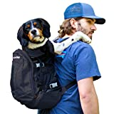 K9 Sport Sack | Dog Carrier Backpack for Small and Medium Pets | Front Facing Adjustable Dog Backpack Carrier | Fully Ventilated | Veterinarian Approved (Medium, Air Plus - Jet Black)