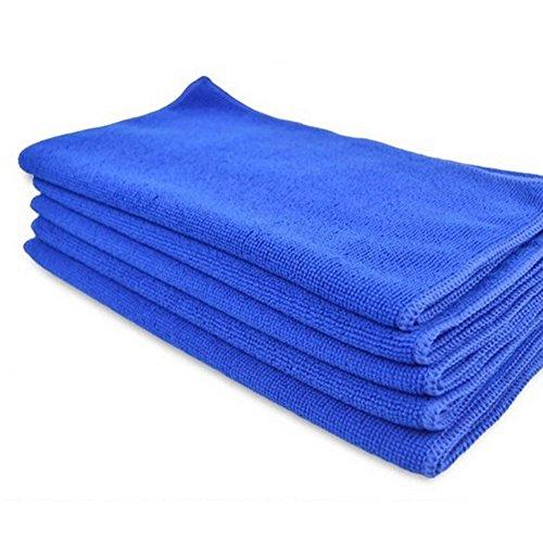 Topbeu 5Pcs Car Microfiber Cleaning Towel Car Washing Drying Clean Cloth Towel