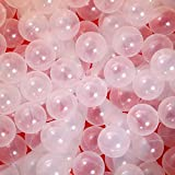 PlayMaty Clear Ball Pit Balls - Phthalate Free BPA Free Plastic Ocean Balls for Kids Swim Pit Fun Toys for Toddlers and Baby Playhouse Play Tent Playpen Pool Party Decoration Pack of 70 (Φ2.36)
