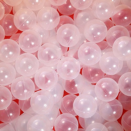 PlayMaty Clear Ball Pool Pit Balls - 100pcs Phthalate Free BPA Free Plastic Ocean Balls for Kids Fun Toys for Playhouse Play Tent Playpen Pool (?2.16)