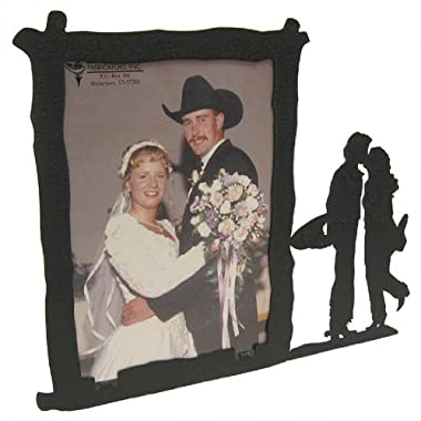 Cowboy and Cowgirl Kissing 5X7 Vertical Picture Frame