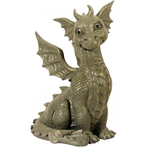 Sehr Großer XXL Gartendrache sitzend Drachen Figur Gargoyle