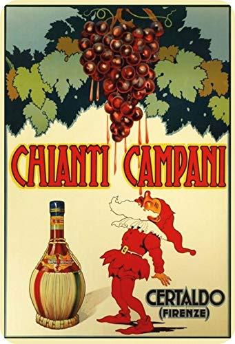 Metalen bord alcohol Chianti Campani rode wijn metalen bord decoratie 20x30cm tin Sign