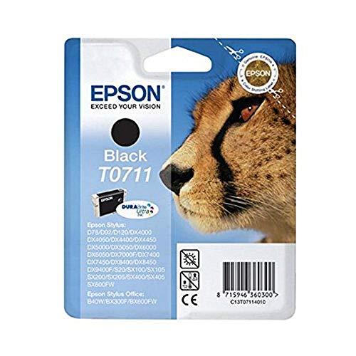 Epson Original T0711 Tinte Gepard, wisch- und wasserfeste (Singlepack) schwarz