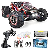【1:10 Large Scale Size & 4 Wheels Drive 】--- The 1:10 Scale big size and full proportional super-fast RC monster truck, the RC Cars four wheels consist of bouncing spring materials which give support to unexpected dropping and the unstable surface of...