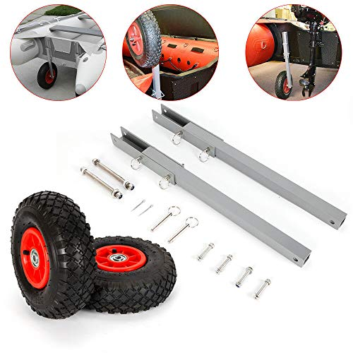 Best Deals! TUQI Boat Transom Launching Wheels for Inflatable Aluminum Fiberglass Trolley Raft max W...