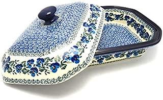 Polish Pottery Baker - Rectangular Covered - Large - Winter Viola