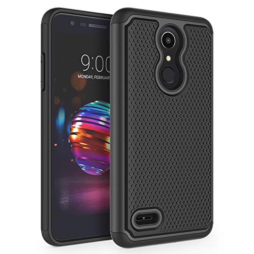 SYONER Shockproof Phone Case Cover for LG K10 2018 / LG K30 / LG Premier Pro LTE / LG K10 Alpha / LG Harmony 2 / LG Phoenix Plus [Black]