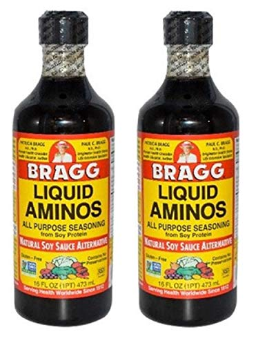 Bragg Liquid Aminos All Purpose Seasoning Soy Sauce Alternative, 32...