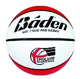Baden Unisex England - Pelota de Baloncesto, tamaño 6, Color Rojo/Blanco